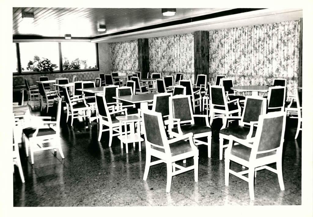 Restaurante Country Grill a finales de la década del 70.