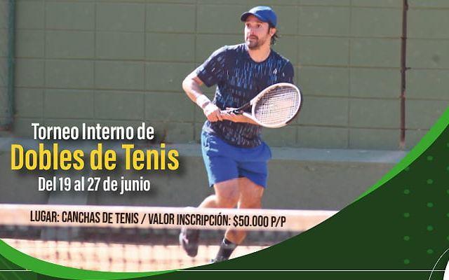 Banner tipo 2 torneo de dobles de tenis